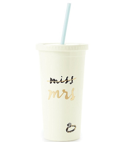 kate spade new york Miss to Mrs. Insulated Tumbler with Straw