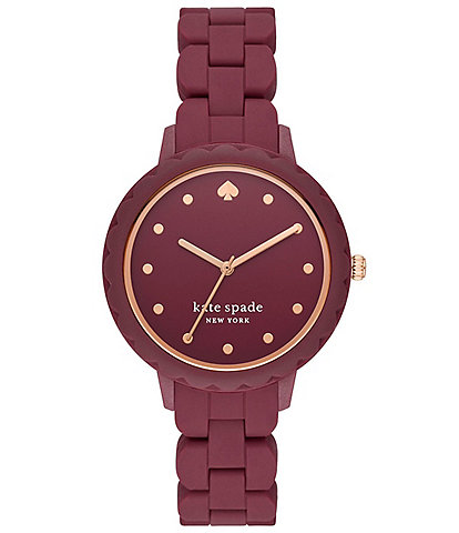 kate spade new york Morningside Pinot Noir Silicone Watch