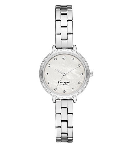 kate spade new york Morningside Scallop Three-Hand Stainless Steel Watch