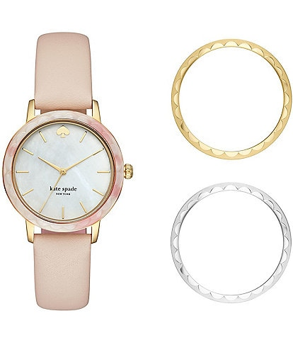 kate spade new york Morningside Three-Hand Scallop Interchangeable Topring Watch