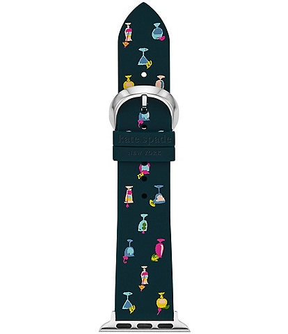 kate spade new york navy Cocktail-Print Silicone 38/40mm Bands for Apple Watch®