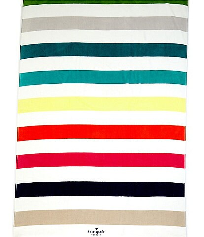 kate spade new york Outdoor Living Collection Candy Stripe Beach Towel