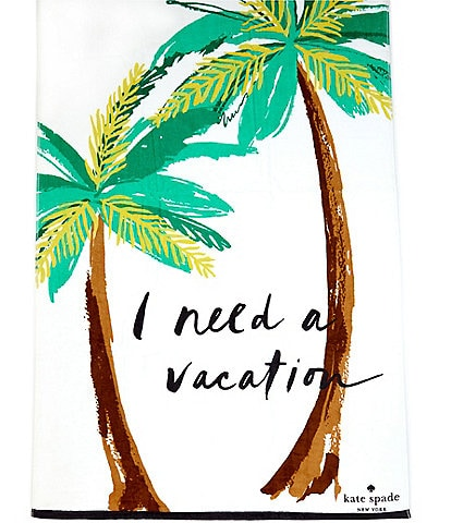 kate spade new york Outdoor Living Collection I Need A Vacation Beach Towel