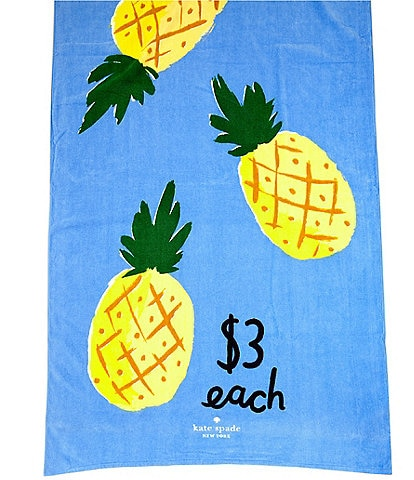 kate spade new york Outdoor Living Collection Pineapples Beach Towel