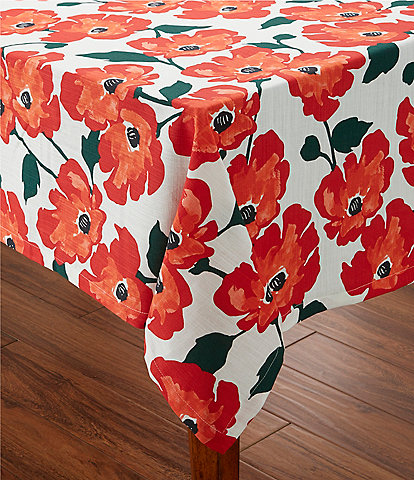kate spade new york Painted Poppies Tablecloths