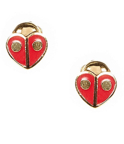 kate spade new york Party Animal Ladybug Stud Earrings