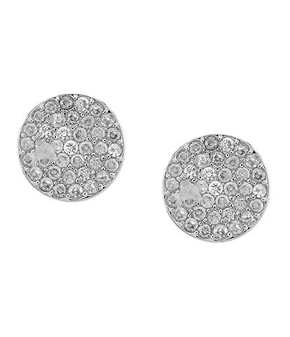 kate spade new york Pave Circle Stud Earrings