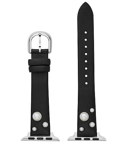 kate spade new york Pearl Black Leather 38/40mm Band for Apple Watch®