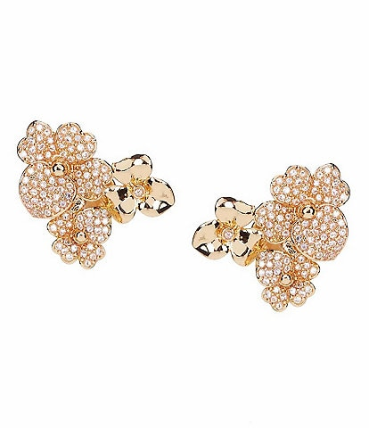 kate spade new york Precious Pansy Pave Cluster Stud Earrings