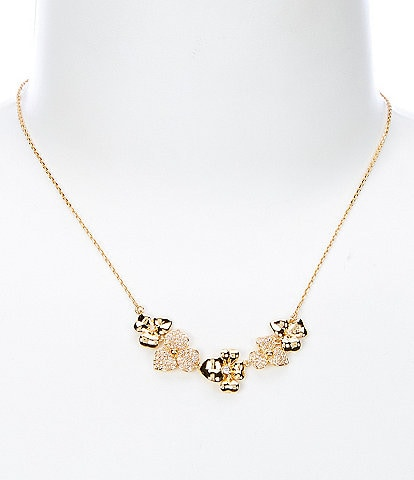 kate spade new york Precious Pansy Pave Necklace