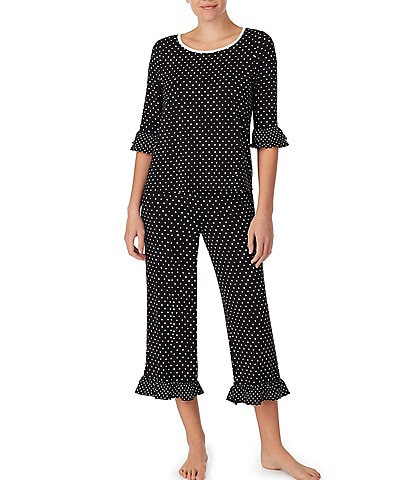 kate spade new york Print Jersey Knit Cropped Pajama Set