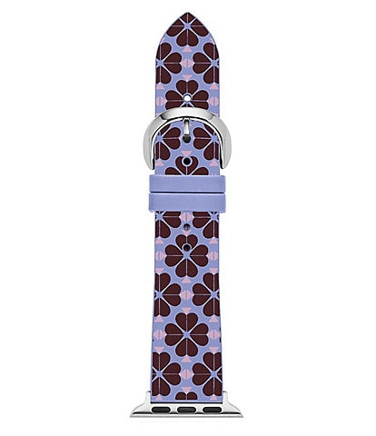 kate spade new york Purple Spade Flower SIlicone Apple Watch Strap