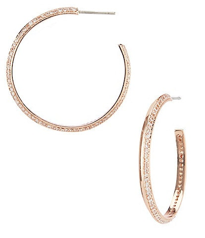 kate spade new york Raise the Bar Pave Hoop Earrings