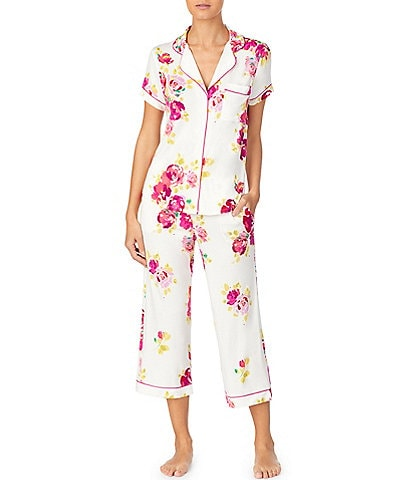 kate spade new york Rare Roses Printed Jersey Knit Capri Pajama Set