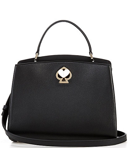 kate spade new york Romy Small Pebbled Leather Turnlock Satchel Bag