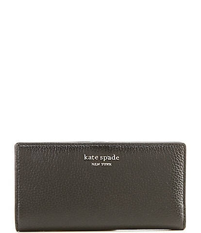 kate spade new york Roulette Slim Pebble Leather Bifold Wallet