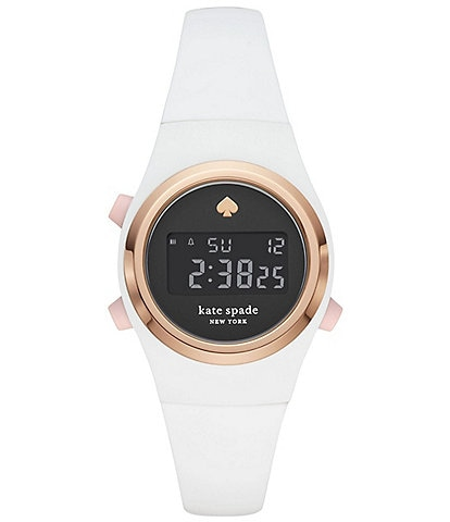 kate spade new york Rumsey Digital White Silicone Watch