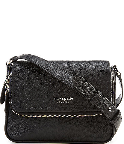 kate spade new york Run Around Pebble Leather Large Flap Crossbody Bag