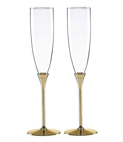 kate spade new york Simply Sparkling Gold-Plated Flute Pair