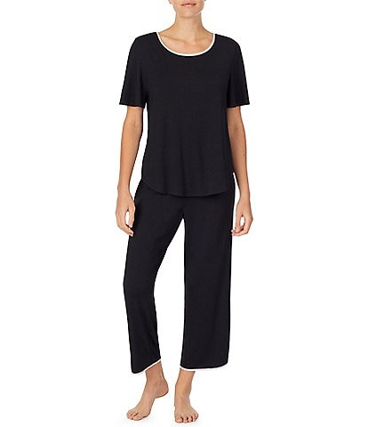 kate spade new york Solid Jersey Knit Cropped Pajama Set