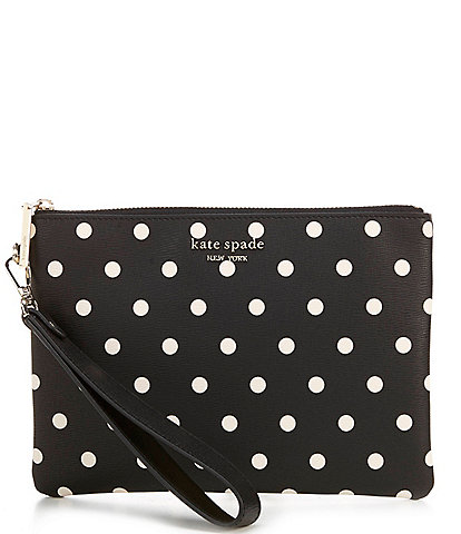 kate spade new york Spencer Cabana Polka Dot Small Pouch Wristlet