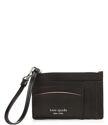 kate spade new york Spencer Leather Zippered Card Case Wristlet