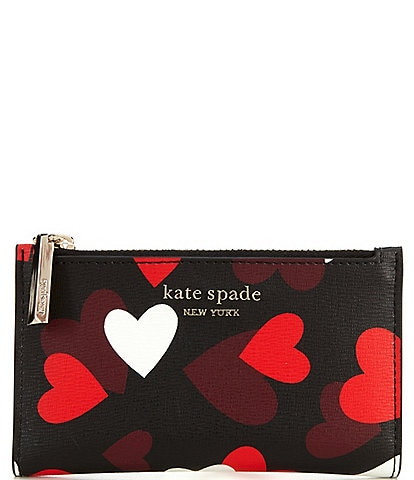 kate spade new york Spencer Celebration Hearts Small Slim Bi-Fold Wallet