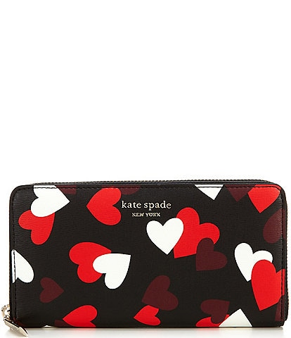 kate spade new york Spencer Celebration Hearts Zip Around Continental Wallet