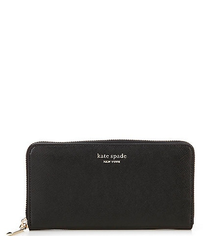kate spade new york Spencer Colorblock Leather Zip Around Continental Wallet