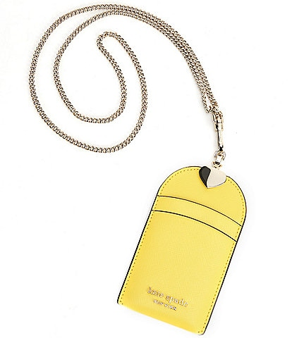 kate spade new york Spencer Saffiano Leather Chain Lanyard