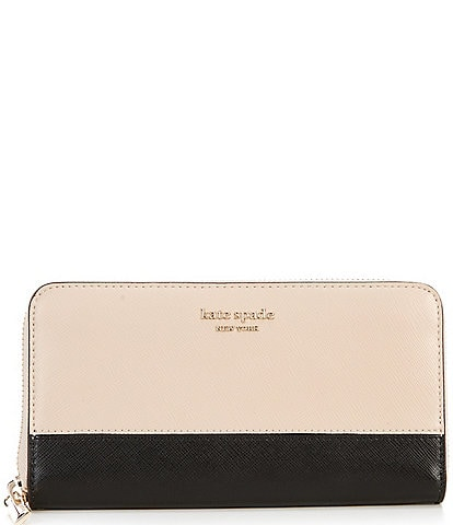 kate spade new york Spencer Leather Colorblock Zip Around Continental Wallet