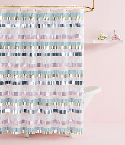 kate spade new york Stacked Stripe Shower Curtain