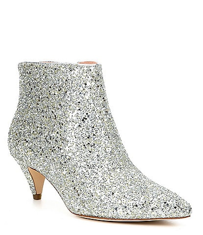 kate spade new york Stan Lace Glitter Booties