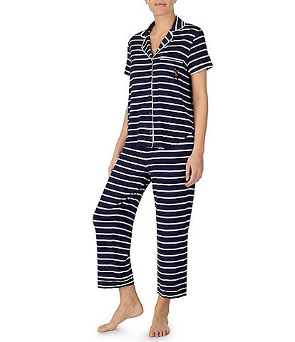 8823ee0d86 kate spade new york Striped-Print Jersey Cropped Pajama Set