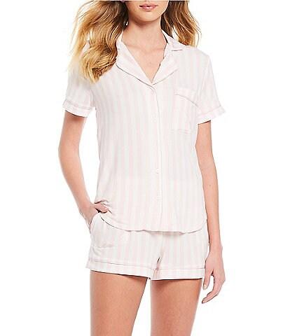 kate spade new york Striped Print Jersey Knit Pajama Shorts Set