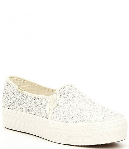 keds x kate spade new york Triple Decker Platform Glitter Sneakers