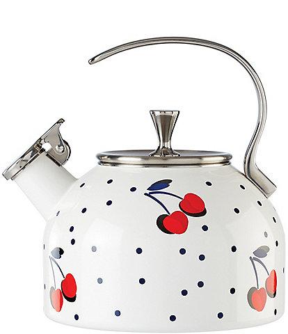 kate spade new york Vintage Cherry Dot Tea Kettle