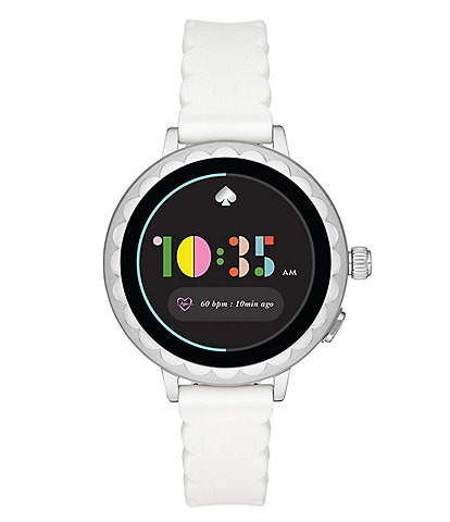 kate spade new york white silicone scallop smartwatch 2