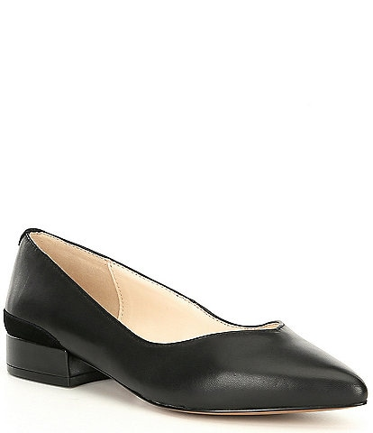 Katherine Kelly Allie Leather Block Heel Flats