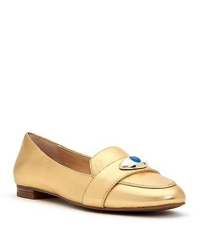 Katy Perry The Harper Eye Metallic Loafers