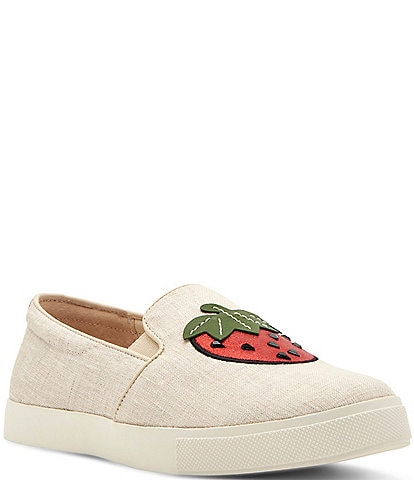 Katy Perry The Kerry Canvas Strawberry Applique Slip-Ons
