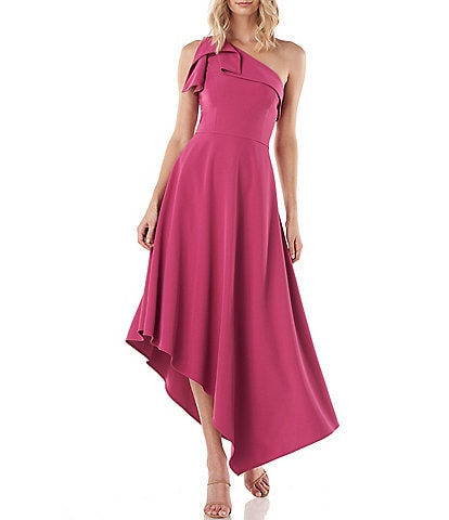 Kay Unger Bethany One Shoulder Asymmetrical Hem Dress