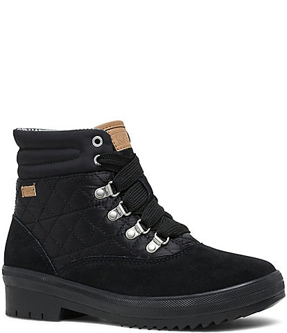 Keds Camp Boot Suede Quilted Nylon WX Booties