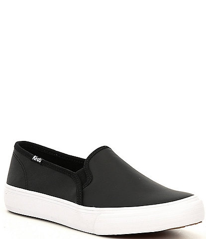 Keds Double Decker Leather Slip On Sneakers