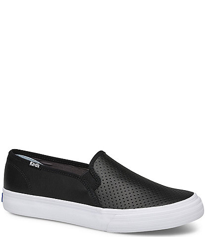 Keds Double Decker Perforated Leather Slip On Sneakers