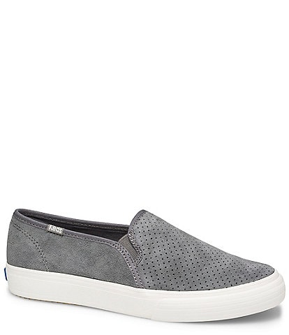 Keds Double Decker Perforated Suede Slip Ons