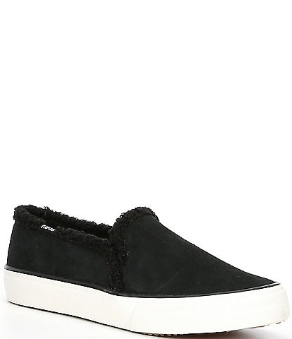 Keds Double Decker Suede Faux Shearling Slip-On Sneakers