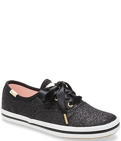 Keds for kate spade new york Girls' Glitter Sneakers Youth