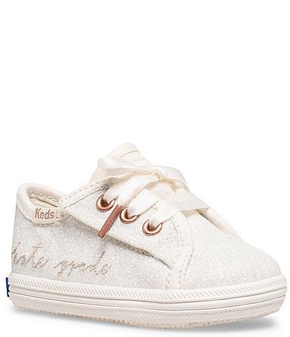 Keds for kate spade new york Girls' Kickstart Glitter Crib Shoes (Infant)