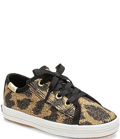 Keds for kate spade new york Girls' Kickstart Jr Leopard Print Sneaker (Toddler)